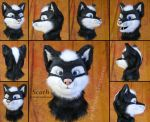 Scath Schattenklaue - Partial fursuit wolf head by Mystic-Creatures