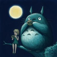 Emma and Totoro by RobWake