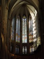 Inside of Cologne Cathedral by foreverstrawberries