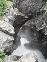 Crow's Pass Waterfall River 2 by prints-of-stock