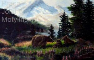 The Grizzly Bear in the Mountains by jolabrodnica