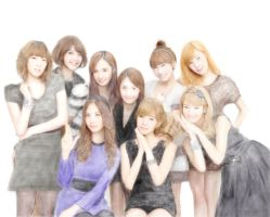 Girls generation SpeedPainting by Taiyoroku