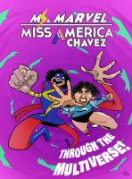 Ms. Marvel/Miss America Team-up cover 2 by TheNoirGuy