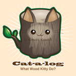 Punny Cat - Cat a Log by kimchikawaii