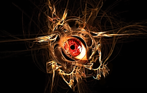 Nested Fractal Eye by XxR3zD3ViLxX