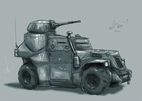 armored car by AndyFil