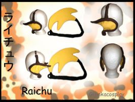 Raichu Tail and Ears Set by Gijinkacosplay