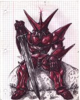 Red Shell Armor Knight by ForeverZeroDragon