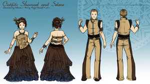 Shamael and Selene's Outfits by ValkAngie