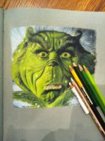 The Grinch (Prismacolor) by assetra1