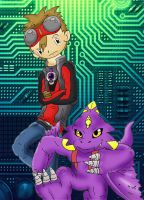 Digimon tamer Dan by Retro-D64