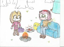 Amy and Cream's Camping Trip by Basher-the-Basilisk