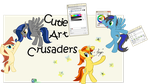 The Cutie Art Crusaders make Art by Fangz17
