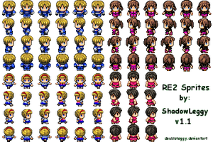 RE2 Sprites v1.1 by DoubleLeggy
