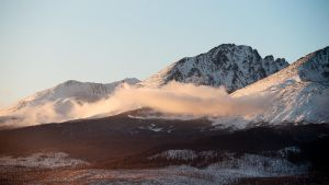Tatra mountains at sunset by Dunadan-from-Bag-End