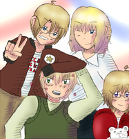APH - The Blonde Family by TsunaSensei