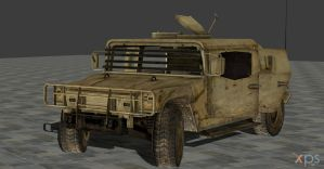 HUMVEE FULLY POSEABLE by Oo-FiL-oO