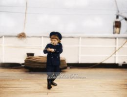 Little sailor Alexei pulling a rope by GracefulTatiana1897
