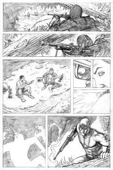 Deadshot Page 2 Pencils by craigcermak
