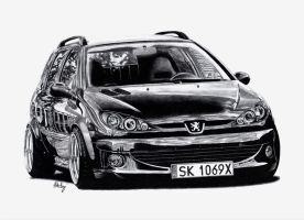 Peugeot 206 SW by MishoH