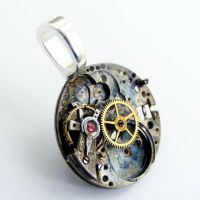 Goth Steampunk PEndant by Create-A-Pendant