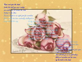 Roses on the Stand Background by Ravwrin-NataEl