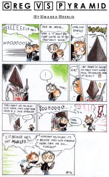 House VS Pyramid Head by Seal-of-Metatron