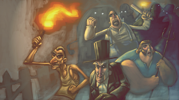 the angry mob by robiant