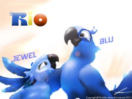 RIO BLU AND JEWEL by Adry53