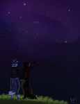 Watching the stars with you by KiteKraschu