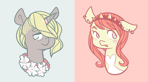 Pastel Ponies Headshot Auction CLOSED by FavfiAdopts