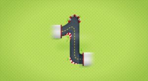 Animated '1' for #36daysoftype by Dumaker