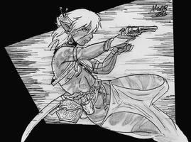 Gunslinger Drow by Shabazik