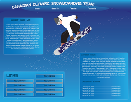 Snowboarding team Layout by MattehMatt