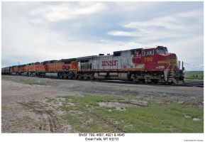 BNSF 799, 4687, 4921 + 4645 by hunter1828