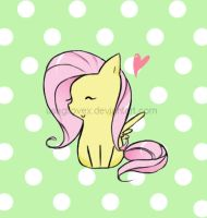 Chibi Fluttershy~ by UsagiLovex