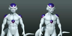 Zbrush Frieza 2.0 model WIP by SchneeKatze09