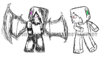 Minecraft: Deadlox and Enderlox (Sketch) by The-Doodle-Ninja