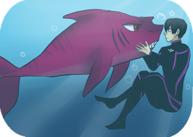 Haru and shark Rin by TSCLonix