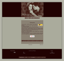 Blogspot template The lion fell in love... by MySensitiveHeart