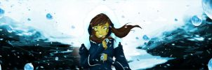 Korra Snow Crystal Bender by SolKorra