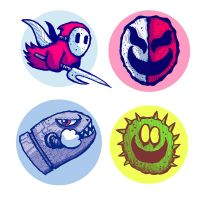 More 8-Bit Evil Mario baddie button ideas by edbot5000