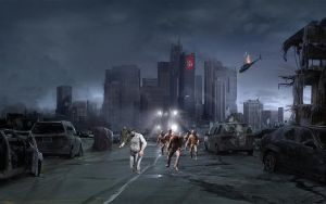 Post-Apocalyptic City After Zombie Virus Outbreak by EclipseEdits