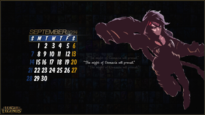 League of Legends Calender 2014 - September by CreateMyIntro