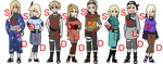 Mixed Blonde Naruto OC Adoptables - SOLD OUT by mistressmaxwell