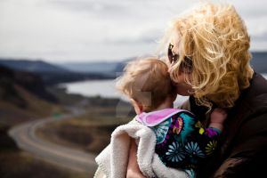 Girls at the Gorge and a Kiss by aesthetigenesis