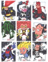 Marvel Universe Sketchcards 03 by thecheckeredman
