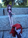 On the stone steps. 3 by Jessi-element