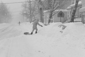 2015 January Blizzard, Sled Dragging by Miss-Tbones