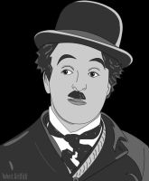 Charlie Chaplin: Vector Art by AskGriff